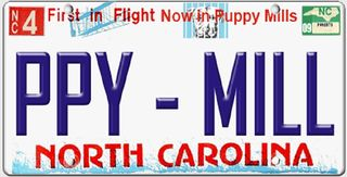 Puppy mill license plate